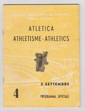 Orig.PRG   Olympische Spiele ROM 1960  - 03.09. Leichtathletik / 3 Finals !! TOP