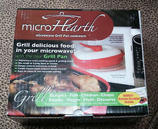 Microhearth Grill Pan for Microwave Cooking Red