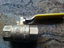 """ZHIQING Brass Ball Valve 3/4"""" #Q11F-600TB  Gas or Oil no Human H2O"""