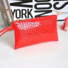 Crocodile Leather Clutch Handbag Bag Coin ID Card Phone Women Purse Vogue Wallet