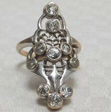 Antique Cushion Cut Diamond 1.50cts 18 Carat Gold Ring  Circa 1900s Art Nouveau