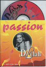 D.LILAH - Passion CD SINGLE 2TR DUTCH CARDSLEEVE 1998 Europop RARE!