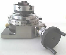 """Rotary Table Horizontal & Vertical 4"""" / 100mm with 65mm Lathe Chuck for Milling"""