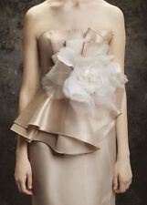 Rare! SOLD OUT! Vera Wang Horsehair Large Flower Sash Ivory Bridal Belt Vintage