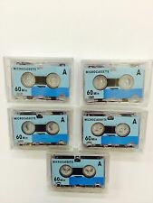 5 x MC-60 Micro Cassette Tapes Rear Mini Tape