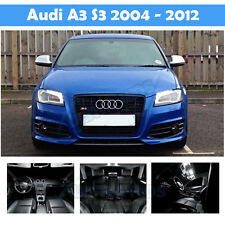 AUDI A3 8P WHITE INTERIOR UPGRADE ERROR FREE LED LIGHT KIT SET SMD S3 14