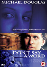 DON`T SAY A WORD - DVD - REGION 2 UK