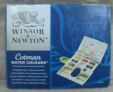 Winsor & Newton Cotman Compact Set Watercolour 16 Piece ~ NEW