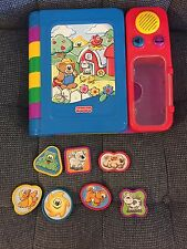 Fisher Price Storybook and Puzzle Talking Animal Book GUC