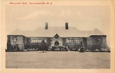 Lawrenceville New Jersey Memorial Hall Exterior View Antique Postcard V16288