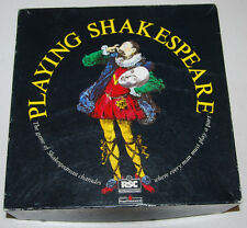 Playing Shakespeare Board Game Vintage 1990 Rare Charades Family Drama Thespian