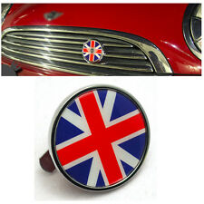 Union Jack Front Emblem Grill Badge Logo For Mini Cooper S One Clubman Jwc