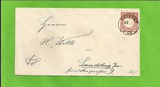 Preußen / DRIESEN 27.5.74 K2 auf Pracht-Brief m. DR 19 nach Landsberg a/W