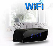 WIFI 720P HD 160º Wide Angle Spy Clock Night Vision Hidden Camera DVR Camcorder