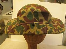 VTG Vietnam War Era  Advisor Boonie Duck Hunter Camouflage Jungle Hat Cap SMALL