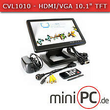 "Cvl1010-HDMI/VGA 10.1"" TFT-screen USB-PAL/NTSC IR audio LED []"