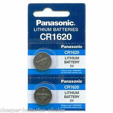 2 PANASONIC CR1620 ECR1620 CR 1620 3v Lithium Battery NEW
