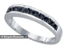 black diamond .50 carat wedding anniversary 925 ring enhancer bride spacer