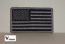 US USA American Flag patch BLACK and SILVER GRAY GREY ***BUY 2 GET 1 FREE***