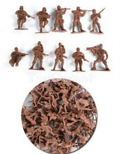 100 pcs Military Plastic Toy Soldiers Army Men Red 1:36 Figures 10 Poses
