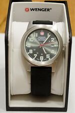 Wenger Swiss Army Swiss Military Mens Watch 72824 Rubber Band Green Face