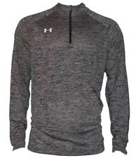 NEW Under Armour UA Twisted Tech 1/4 Zip Performance Pullover Black M Medium