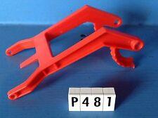 (P481) playmobil piéce vehicule support de pelle de tracteur rouge clair