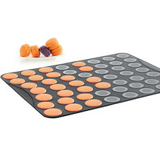 Mastrad of Paris Silicone Baking Sheet for Small Macarons 53 Ridges F45301