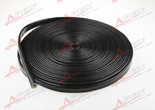 "1/4"" inch Silicone jacketed thermal Heat Sleeving Protector black Wire"