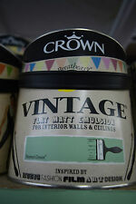 Crown Vintage Flat Matt Emulsion Paint For Interior Walls Ceilings Enamel Green