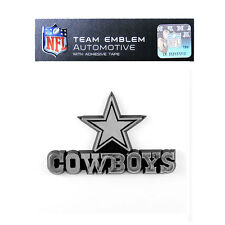 Promark New NFL Dallas Cowboys Plastic Chrome 3-D Auto Emblem Sticker Decal