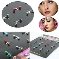 12pcs/set Surgical Stainless Steel Ear Eyebrow Tongue Bar Body Piercing Studs g