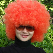 Unisex Fun Funny Afro Curly Clown Party 70s Disco Wig Wigs New