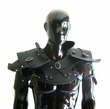 Road Warrior Faux Black Leather Shoulder Armor Adult Halloween Costume