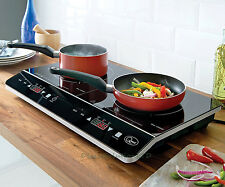 Powerful Double Digital Induction LED Hob Twin Rapid Heat System Electric New