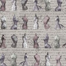 OH SEW BEAUTIFUL MANNEQUINS SCRIPT FABRIC
