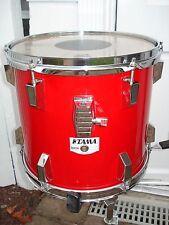 "TAMA 'RockStar' 13"" x 11"" tom. Fire Engine RED. m/i JAPAN. Late '80s. VG++! drum"