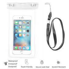 White Waterproof Case Cell Phone Dry Bag+Lanyard f/ iPhone 7 & all Smart Phones