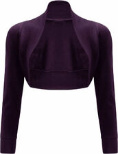 NEW LADIES WOMENS LONG SLEEVE BOLERO SHRUG CARDIGAN TOP SIZE 8-14