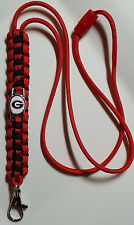 Georgia Bulldogs Red & Black Handmade Paracord Lanyard or Bracelet or Key Chain