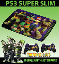 PLAYSTATION PS3 SUPERSLIM  NICK TOON MUTANT NINJA TURTLES SKIN STICKER &PAD SKIN