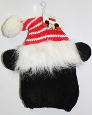 MICKEY KNIT CHRISTMAS HAT Child Youth Boys Girls Disney Mouse Ears Santa Cap NEW