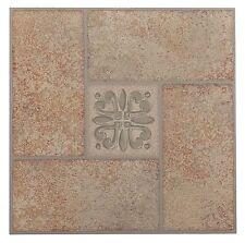 Nexus Beige Terracotta Motif Center 12x12 Self Adhesive Vinyl Floor Tile 20
