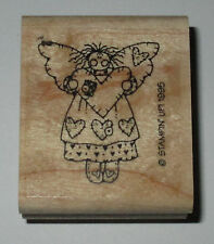 Hearts Angel STAMPIN' UP! Rubber Stamp 1995 Retired Cards DIY Wings