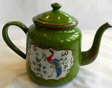 BEAUTIFULLY PAINTED POLYCHROME ANTIQUE TEAPOT CREATED BY CZECH COMPANY ELITE