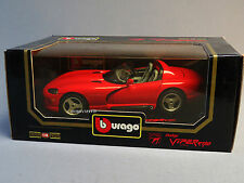 BURAGO DIE CAST 1:18 SCALE DODGE VIPER RT/10 1992 old stock red car 3025 NEW