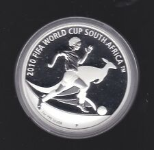 2010 Australia $1 Silver Proof Kangaroo Coin FIFA World Cup South Africa Soccer
