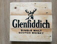 Glenfiddich Wall Sign Breweriana Upcycled Wood Man Cave Bar