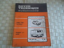 REVUE TECHNIQUE PEUGEOT J7 ESSENCE FOURGON - PICK UP