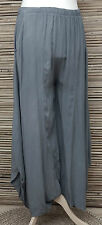 LAGENLOOK OVERSIZE QUIRKY BALLOON 2 POCKETS HAREM TROUSERS/PANTS*GREY*SIZE L-XL